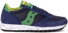 Sneaker Saucony Jazz in tessuto e suede blu verde e lime
