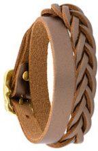 - Il Bisonte - woven wrap bracelet - women - pelle - Taglia Unica - effetto metallizzato