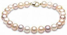 Kimura Pearls - Bracciale da donna, oro giallo 9k (375), 184 mm, cod. FMNS7007