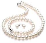 Parure gioielli Perla Collana orecchini e braccialetto per donna Parure di perle regalo per la festa della mamma regali di San Valentino Qualità AAA di VIKI LYNN
