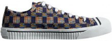 Burberry - Tiled Archive Print Cotton Sneakers - men - Cotone/Sheepskin/Polyamide/rubber - 39, 40, 40.5, 41, 41.5, 42, 42.5, 43, 43.5, 44, 44.5, 45...