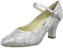 So Danca Bl166 Scarpe da Ballo Donna, Argento (Silver Sparkle), 35/35.5 EU (3 UK)