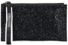 Emilio Pucci - glittery zipped clutch - women - Polyester/Viscose/Cotone/Polyamide - One Size - Nero