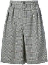 Comme Des Garçons Shirt Boys - Bermuda a quadri - men - Wool - XS, S, M - Nero
