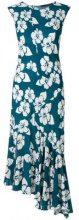 - Simonetta Ravizza - Vestito asimmetrico a fiori - women - viscose - 40 - Blu