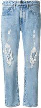 - Levi's: Made & Crafted - Jeans cropped strappati - women - cotone - 29, 30, 31 - di colore blu