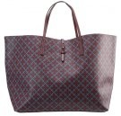 GRINOLAS - Shopping bag - bordeaux/petrol