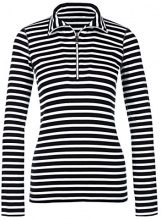 Marc Cain Sports HS 48.85 J90, T-Shirt Donna, (Black And White 911), 44 (N3/44)