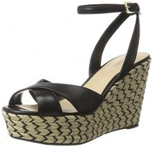 Aldo Annalynn, Sandali con Zeppa Donna, Nero (97 Black Leather), 37 EU