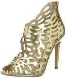 Jane Norman - Heel Cut Out Metalic Gold, Scarpe col tacco Donna