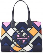 Borsa a spalla Tory Burch Ella Mini in nylon multicolore e pelle sintetica