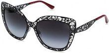 Dolce & Gabbana 0DG2164 01/8G 56, Occhiali da Sole Donna, Nero (Black/Gradient)
