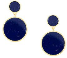 - Eshvi - circular drop earrings - women - argento sterling - Taglia Unica - di colore blu
