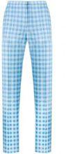 - Nina Ricci - Pantaloni a quadretti - women - Cotone - 38 - Blu