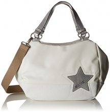 Mustang Kansas Candy Handbag Lhz - Borsette da polso Donna, Bianco (Offwhite), 16x25x40 cm (B x H T)