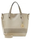 Shopping bag - creme/black