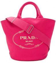 - Prada - logo print tote bag - women - Cotone - Taglia Unica - Rosa & viola