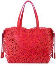 - Sophia Webster - Liara butterfly - cut tote bag - women - Calf Leather - Taglia Unica - Rosa & viola