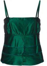 - Giorgio Armani Vintage - layered cami top - women - fibra sintetica/acetato - 44 - di colore verde