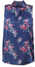 ESPRIT Collection 068eo1f015, Camicia Donna, Blu (Navy 400), 46 (Taglia Produttore: 40)
