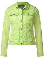 Cecil 210681 Hedda, Giacca in Jeans Donna, Verde (Sulphur Green 11336), (Taglia produttore: S)