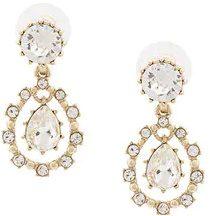 - Marchesa Notte - gemstone drop earrings - women - metallo placcato in argento/cristalli - Taglia Unica - di colore grigio