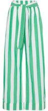 - Mara Hoffman - Pantaloni a righe - women - cotone - M - di colore verde
