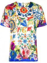 - Dolce & Gabbana - T - shirt con motivo Majolica - women - Silk - 48, 38, 40 - Multicolore