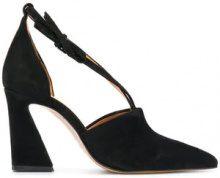 - Ganni - cross strap court pumps - women - Leather/Suede - 41, 37, 38 - Nero