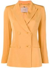 - Twin - Set - double breasted blazer - women - madreperla/fibra sintetica/acetatoacetato - 44, 46, 42 - di colore giallo
