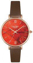 Lola Rose-Orologio da donna al quarzo con Display analogico, colore: arancione e LR2018 cinturino in pelle, colore: marrone