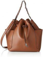 PIECES Pcfreja Bag - Borse a spalla Donna, Marrone (Leather Brown), 13x32x30 cm (B x H x T)