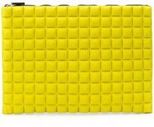 - No Ka' Oi - chocolate bar quilted clutch - women - Spandex/Elastane/Nylon/Polyurethane - Taglia Unica - giallo