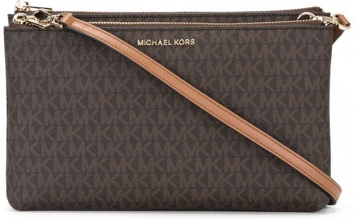 c7a742929b Michael Michael Kors - Borsa a tracolla con logo stampato - women - PVC -  Taglia Unica - color marrone