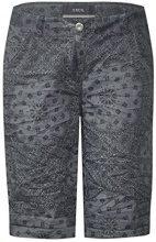 Cecil 371440 New York Shorts Bandana, Pantaloncini Donna, Grigio (Dark Graphite Grey 21437), 28W