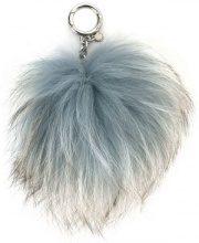 Michael Michael Kors - Charm con dettaglio pompon - women - Fox Fur - OS - Blu