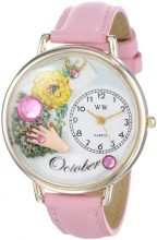 Whimsical Watches - Orologio da polso, analogico al quarzo, pelle