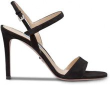 - Prada - Sandali con cinturino - women - Suede/Leather/metal - 36.5, 37, 38, 38.5, 39, 39.5 - Nero