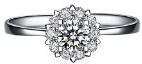 Moda Elegante Dolce Argento Intarsiato Zircone Per La Sposa Fidanzamento Matrimonio Anello