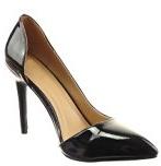 Sopily - Scarpe da Moda scarpe decollete stiletto alla caviglia donna lucide verniciato Tacco Stiletto tacco alto 10.5 CM - Nero