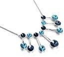 Swarovski Elements Collana in cristallo diamante della collane lussuoso (blu)