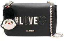 - Love Moschino - foldover Love shoulder bag - women - Leather - Taglia Unica - di colore nero