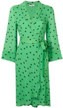 - Ganni - polka dot wrap dress - women - viscose - 38, 40, 34, 36 - Verde
