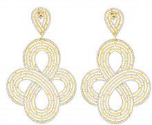 Orecchini in argento 925 dorato e glitter