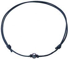 Pearls & Colors PC-CMC2 - Collana girocollo, in metallo con perle d'acqua dolce, 35 cm, Metallo, colore: blu, cod. PC-CMC27