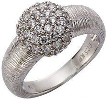 Celesta–Anello da donna in argento 925rodiato, con zirconi bianchi con taglio a brillante taglia 60(19.1)–471270062–060