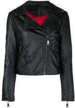- Twin - Set - biker jacket - women - fibra sintetica - L, XL, XXS - di colore nero