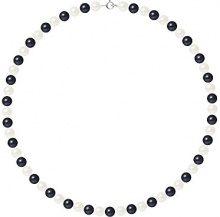 Pearls & Colors Collana di perle Donna argento 925_argento perla rotonda - AM17-COL-AG-R67-AR-WHBL