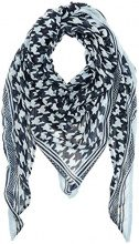 Tom Tailor Printed Triangle Scarf, Sciarpa Donna, Blu (Real Navy Blue 6593), Taglia Unica