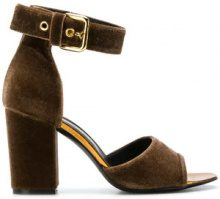 Via Roma 15 - Sandali con cinturino - women - Leather/Velvet - 36, 37, 39, 40 - Marrone